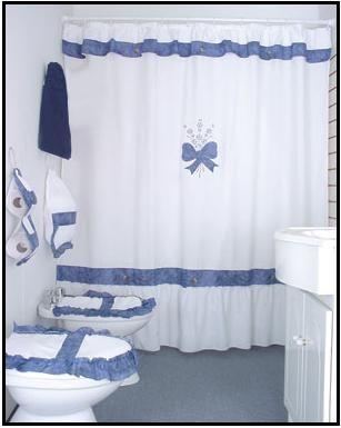 Cortinas elaboradas en tela  Decoración para baño ...