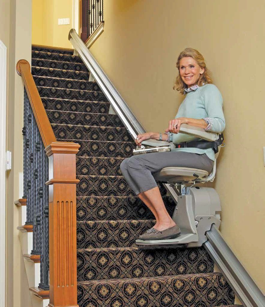 Refurbished Bruno Elan 3000 Stairlift Straight Rail With 1 Year Warranty Chair Lift Stair Lifts Stairs