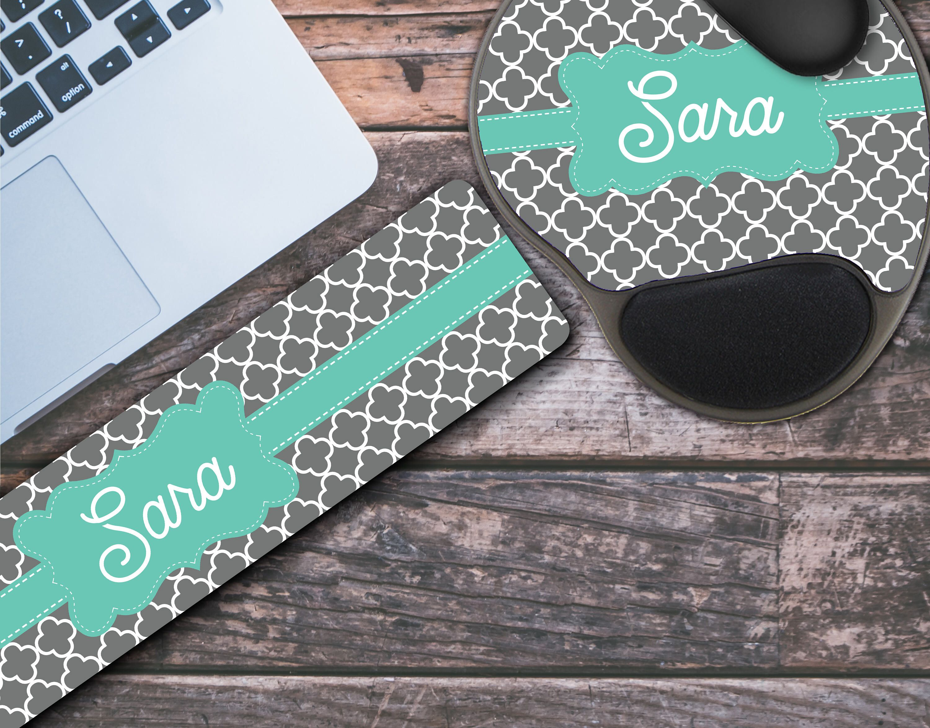 Personalized Keyboard Wrist Rest Mouse Pad With