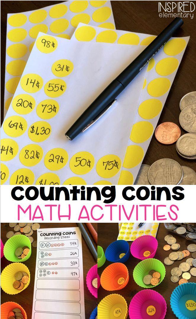 Counting Coins Activities Third grade math, First grade
