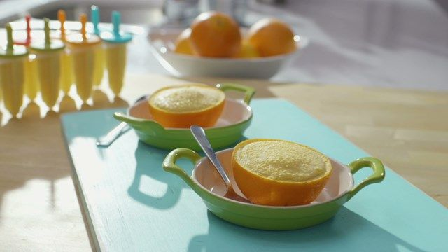 Sorbet mangue-orange | Cuisine futée, parents pressés