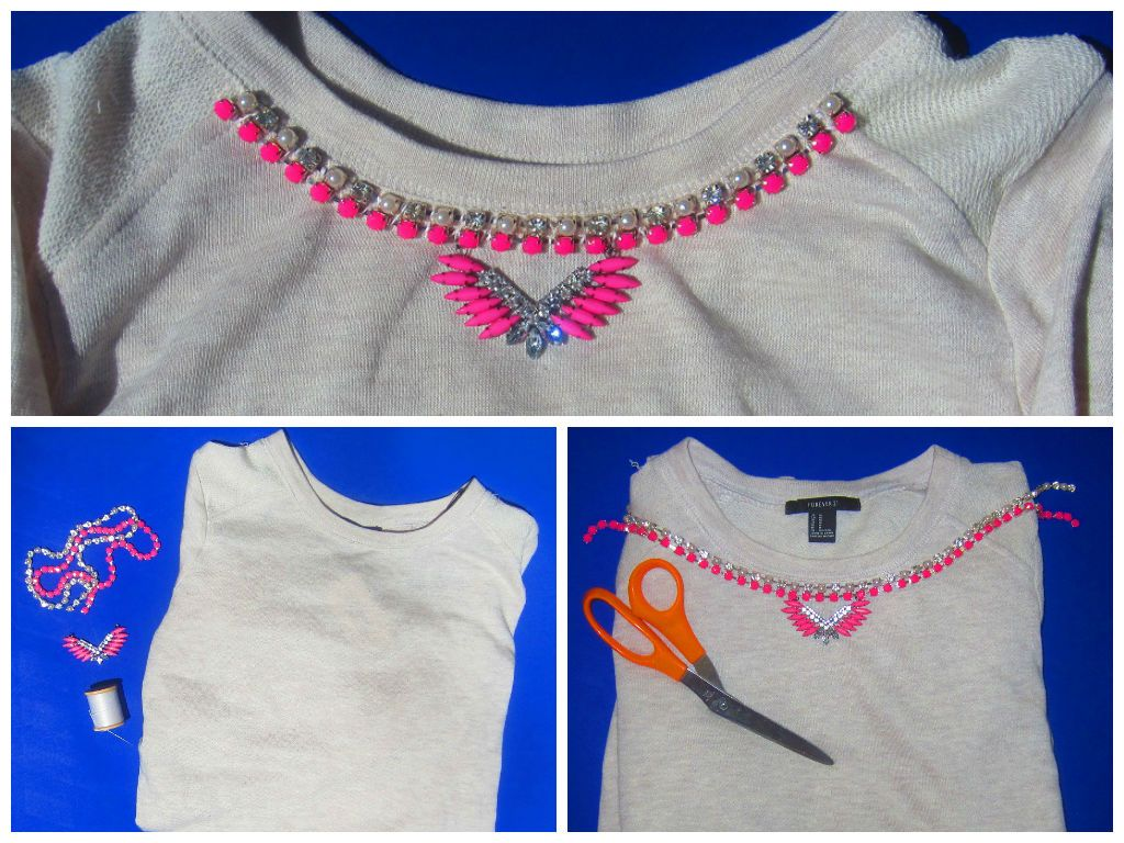 DIY: Casual Chic Sweatshirt... inspired by J.Crew baseball tee. Super easy, cute, comfy and Fashionably Sporty!