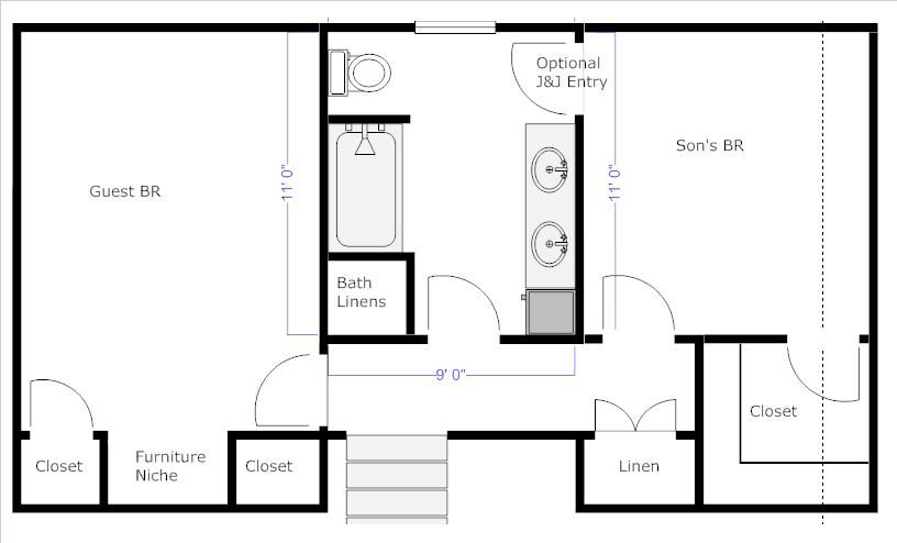 Bathroom Floor Plans with Dimensions | RE: Jack and Jill ...