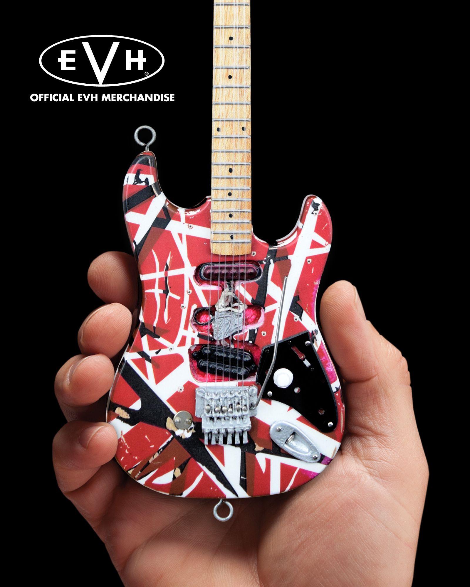 Evh Frankenstein Eddie Van Halen Mini Guitar Replica Collectible Officially Licensed Van Halen Eddie Van Halen Guitar