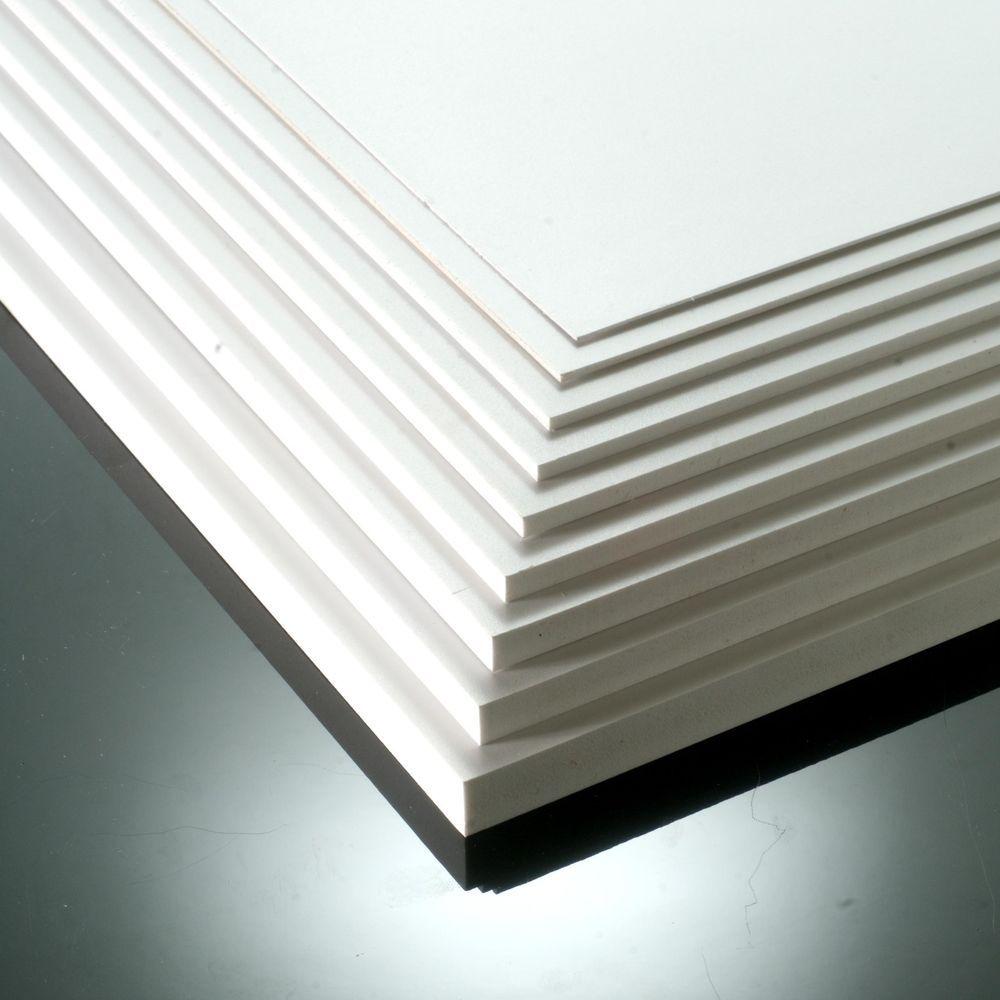 1mm 3mm 5mm Matt White Foam Pvc Sheet A4 A3 Foamex Foam