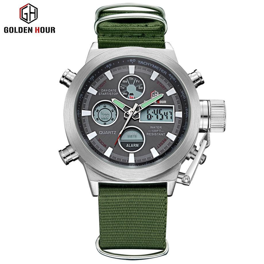 luxury watches watch analog leather wrist products quartz men mens goldenhour fashion military s brand sports waterproof