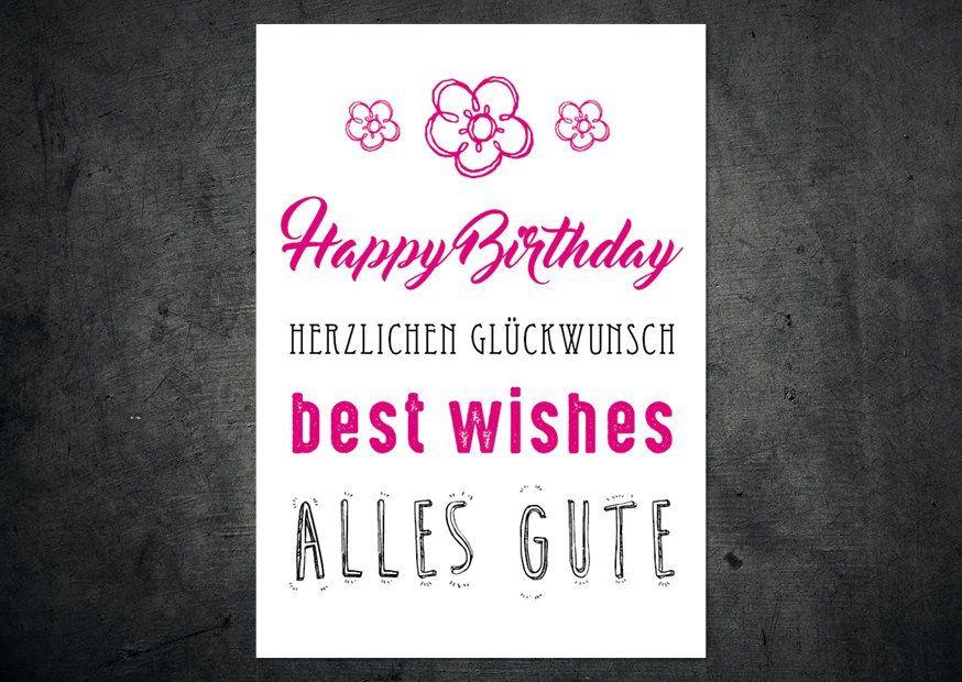5 Gluckwunsch Postkarten Im Set Happy Birthday Gluckwunsche