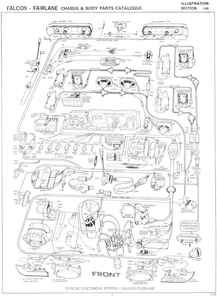Ford Falcon XB Fairlane ZG Wiring Diagram Photo: This