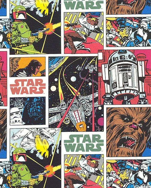 Star Wars 3 Comic Book Collage White From Equiltercom Video