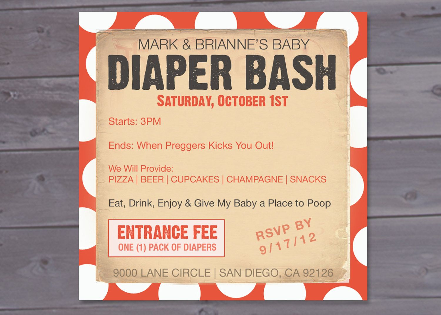 Beer and diapers: 17 man shower invitations | Diapers