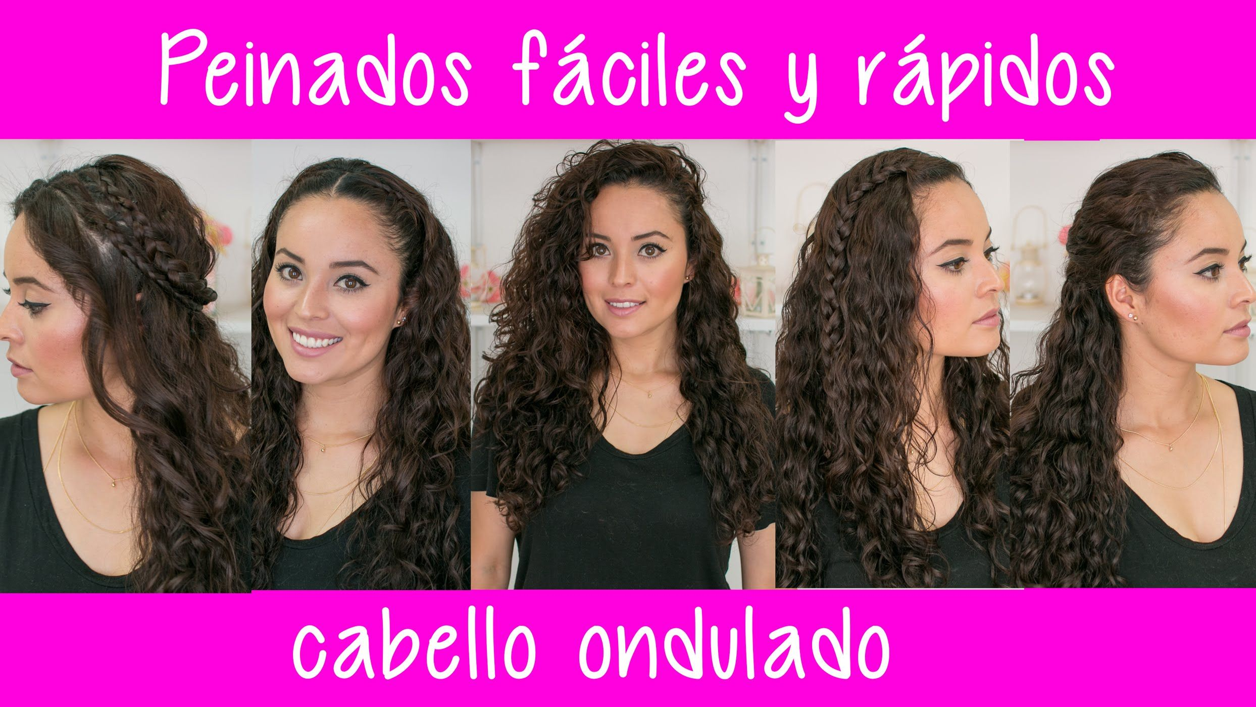 Peinados fÁciles y rÁpidos para cabello rizado chino u ondulado