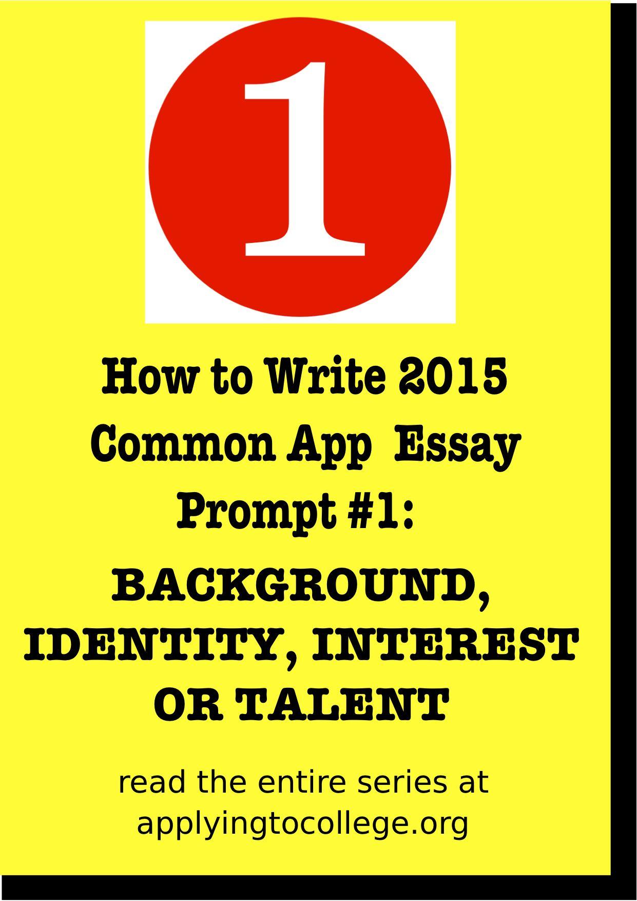 Applying To College  Common app essay, College essay examples