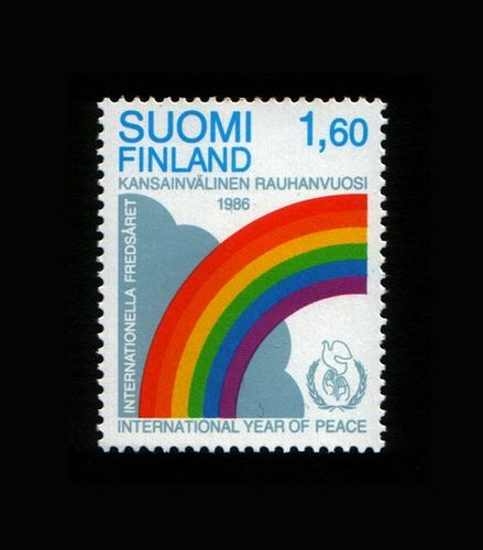 Finland's International Year of Peace stamp 1986