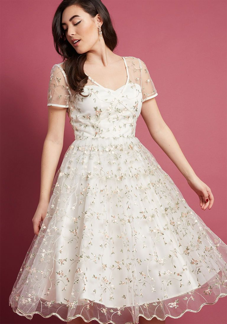 Collectif x mc rosette radiance aline dress in ivory in kids
