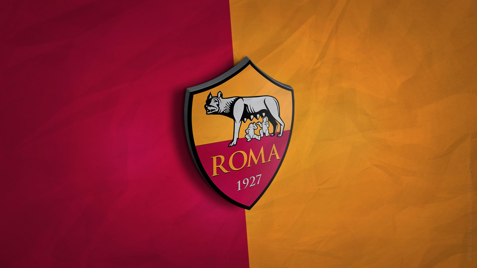 AS Roma 3D Logo Wallpaper - Football Wallpapers HD
