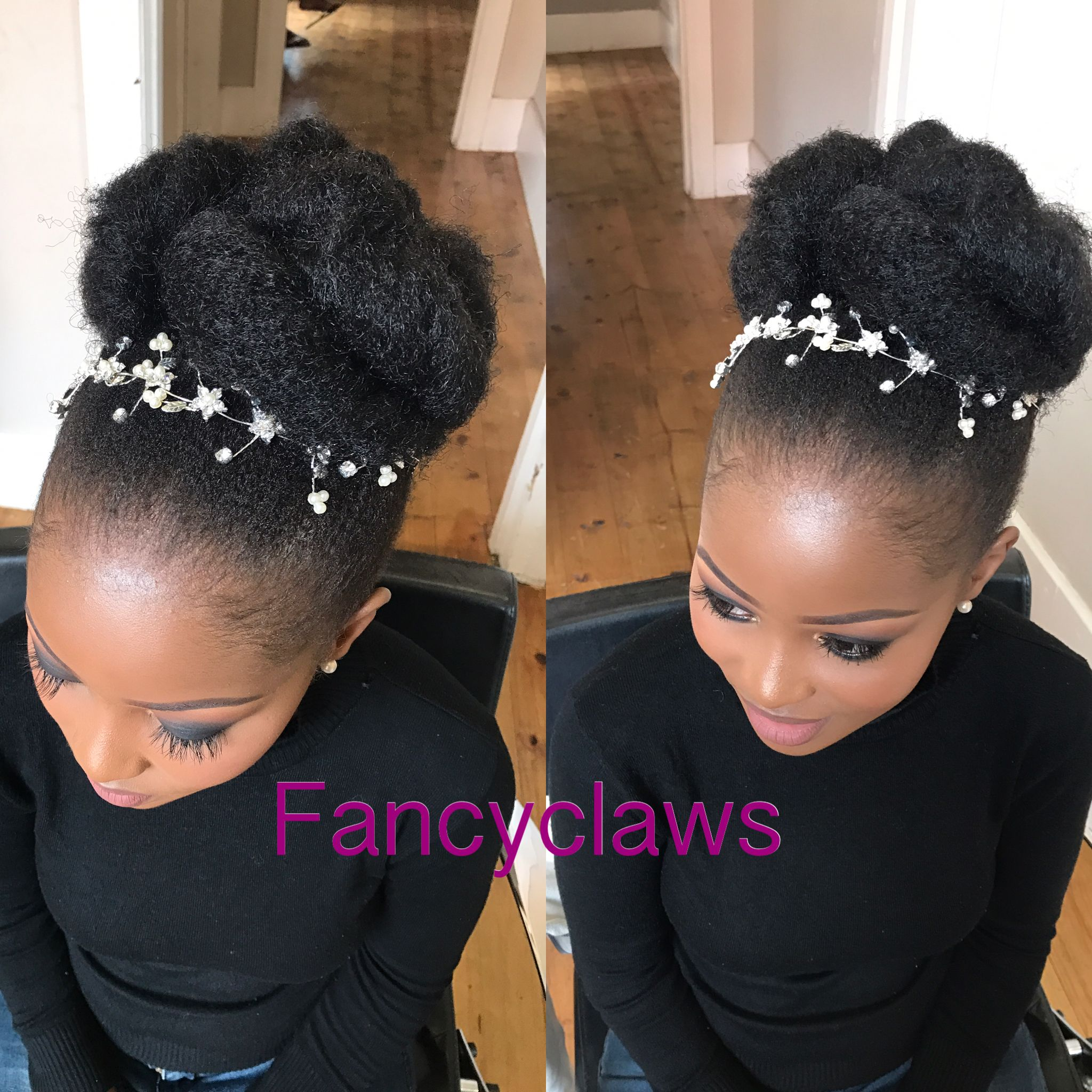 Pin By Ottilie Ambata On Hair Styles Afro Wedding Hairstyles Natural Hair Updo Wedding Natural Hair Wedding