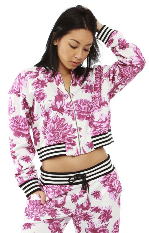 Married to the Mob, Floral Crop Jacket - Women's Brands - MOOSE Limited