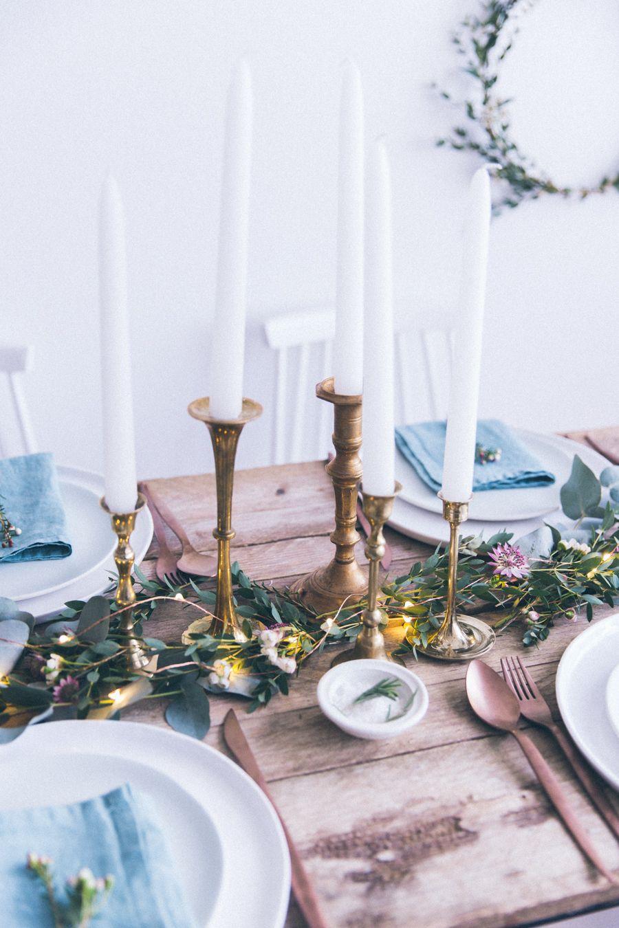 Conseils pour dresser sa table de Noël ou table de fête de mariage ...