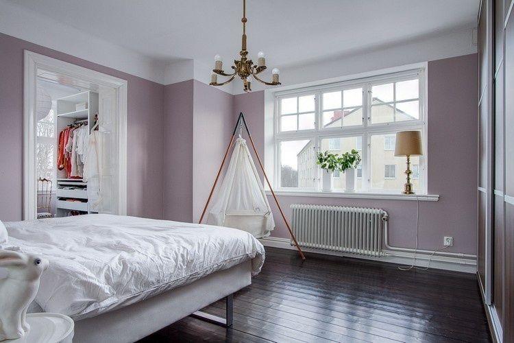 Wandfarbe rose und Flieder eignen sich gut für Schlafzimmer ...
