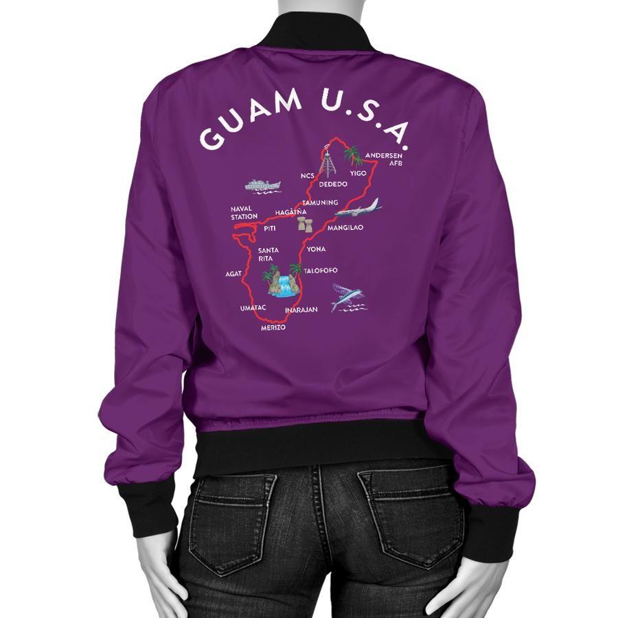 Guam Map Women S Purple Bomber Jacket Womens Green Bomber Jacket Purple Bomber Jacket Maroon Bomber Jacket [ 900 x 900 Pixel ]