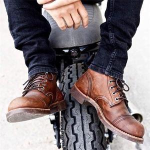 ede8718de4fcf Men Vintage Genuine Leather Ankle Boots – isubella