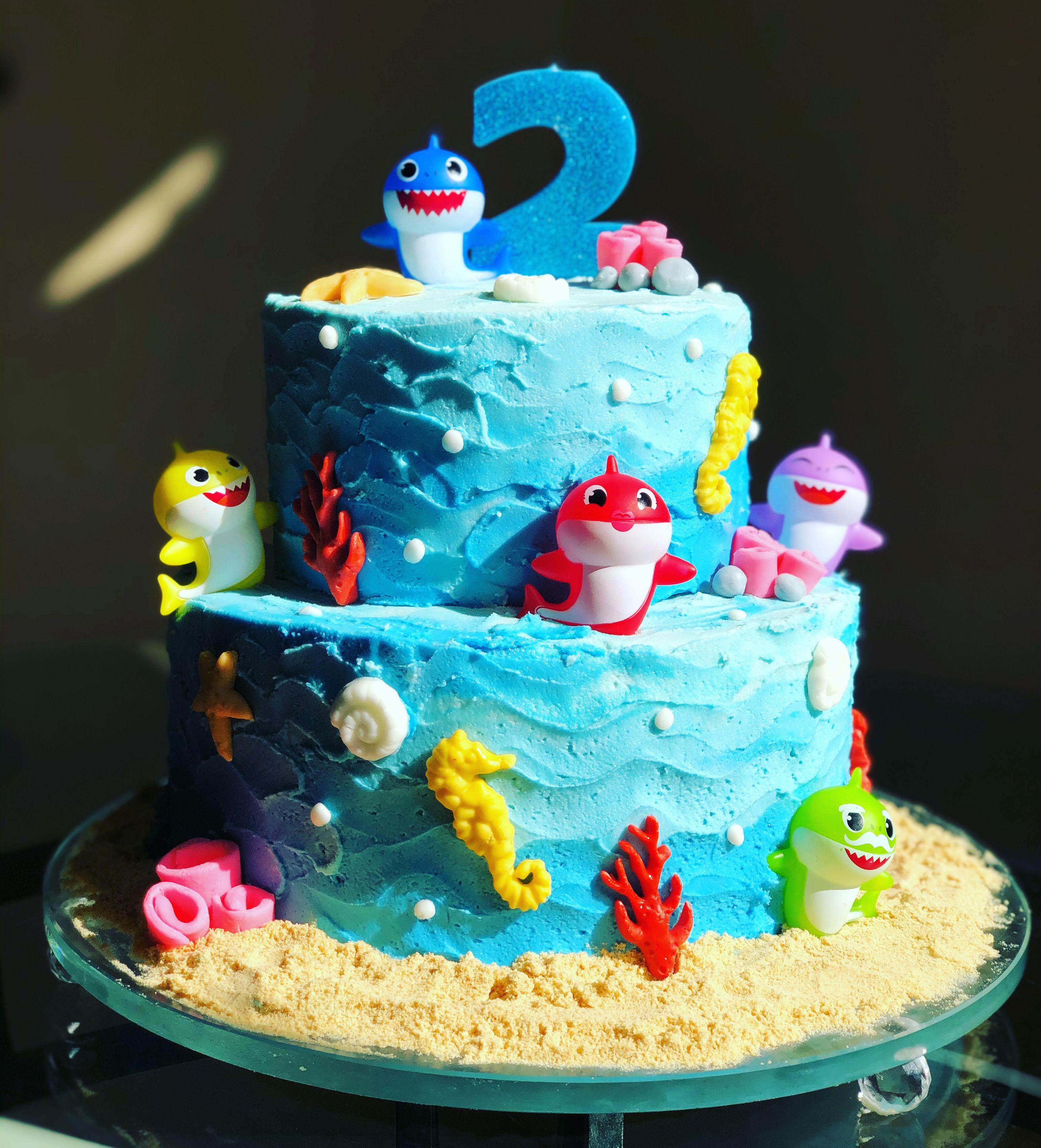 Baby shark cake shark birthday cakes cake shark cake