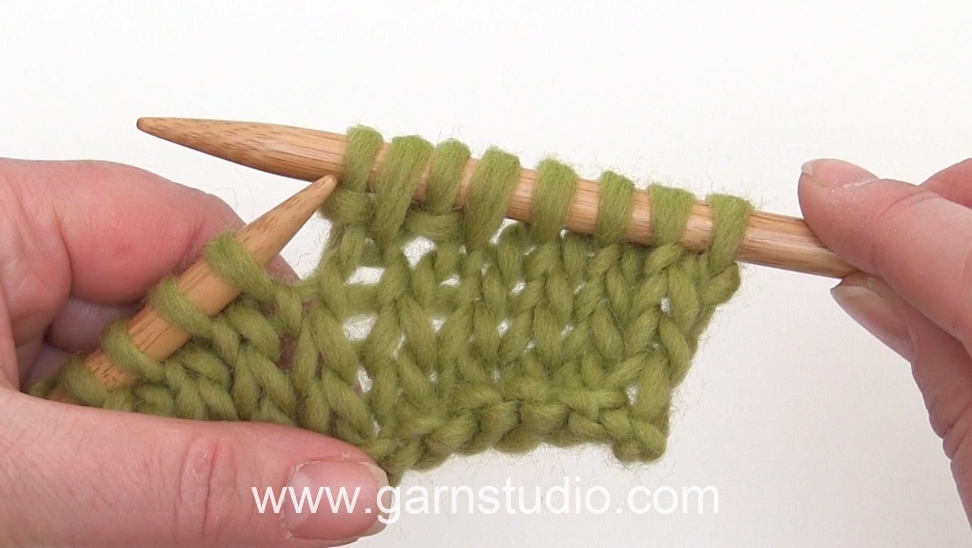 How To Increase Knit Front Back Kfb Puntos En Dos Agujas