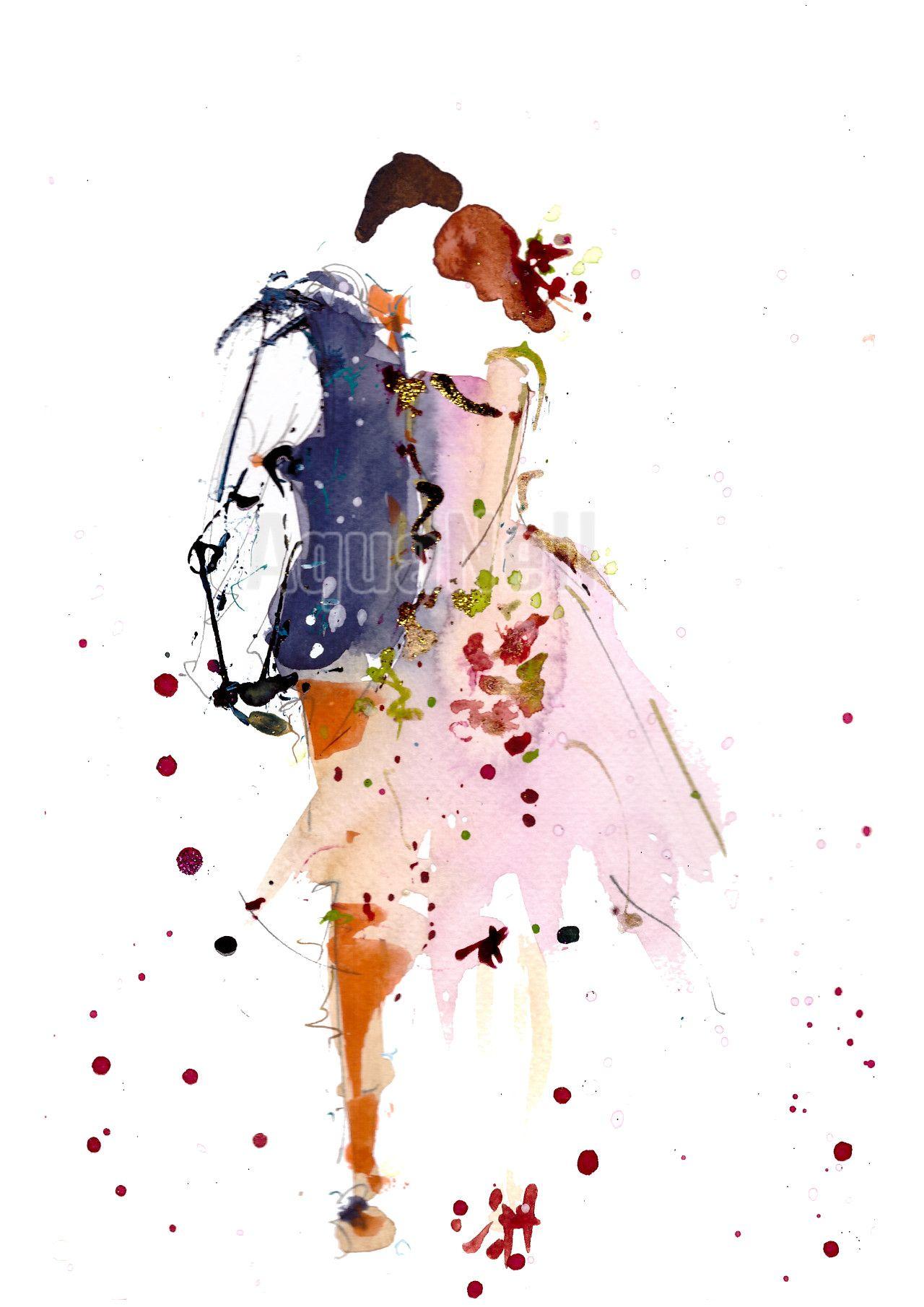 Peinture aquarelle mariage pour décorer vos faire-part ...