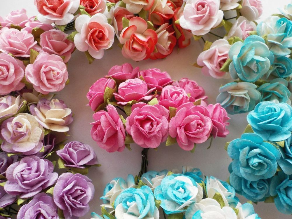 beautiful mulberry paper roses for card making and crafts