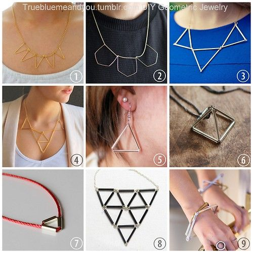 DIY 9 Delicate Geometric Necklaces and Jewelry. I've been...