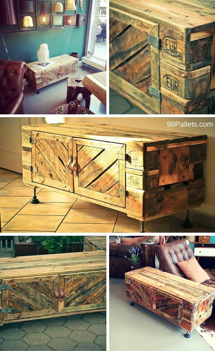 Diy pallet sofa with table 99 pallets - Euro Pallet Cabinet Multi Functional Euro Palletswooden