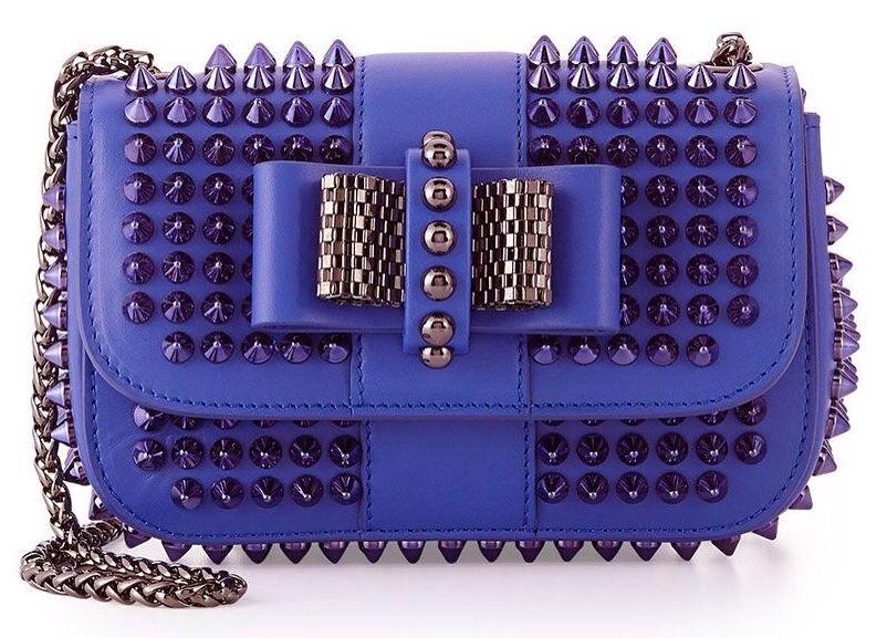 40c729fab18 Women's Blue Sweet Charity Small Spiked Crossbody Bag | True BLUE ...