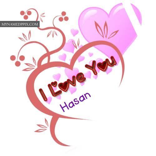 write name love beautiful heart design greeting card
