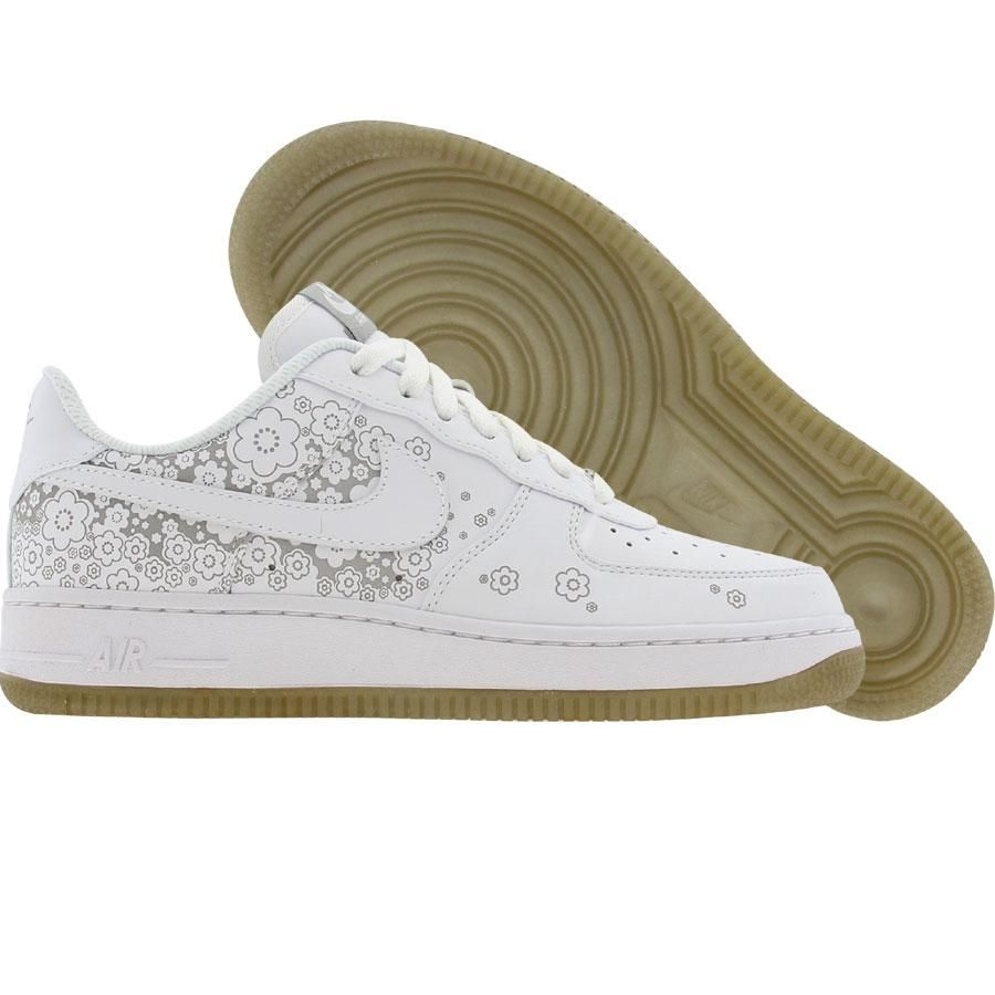 meet 989ea e7097 Nike Womens Air Force 1 07 Premium Low (white   white   metallic silver)  315186-112 -  99.99. Find this ...