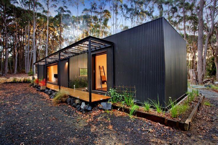 Beautiful Cabin Pops Up In Ten Days With Minimal Landscape Disturbance Inhabitat Green Design Innovatio Modern Prefab Homes Prefab Cabins Beautiful Cabins