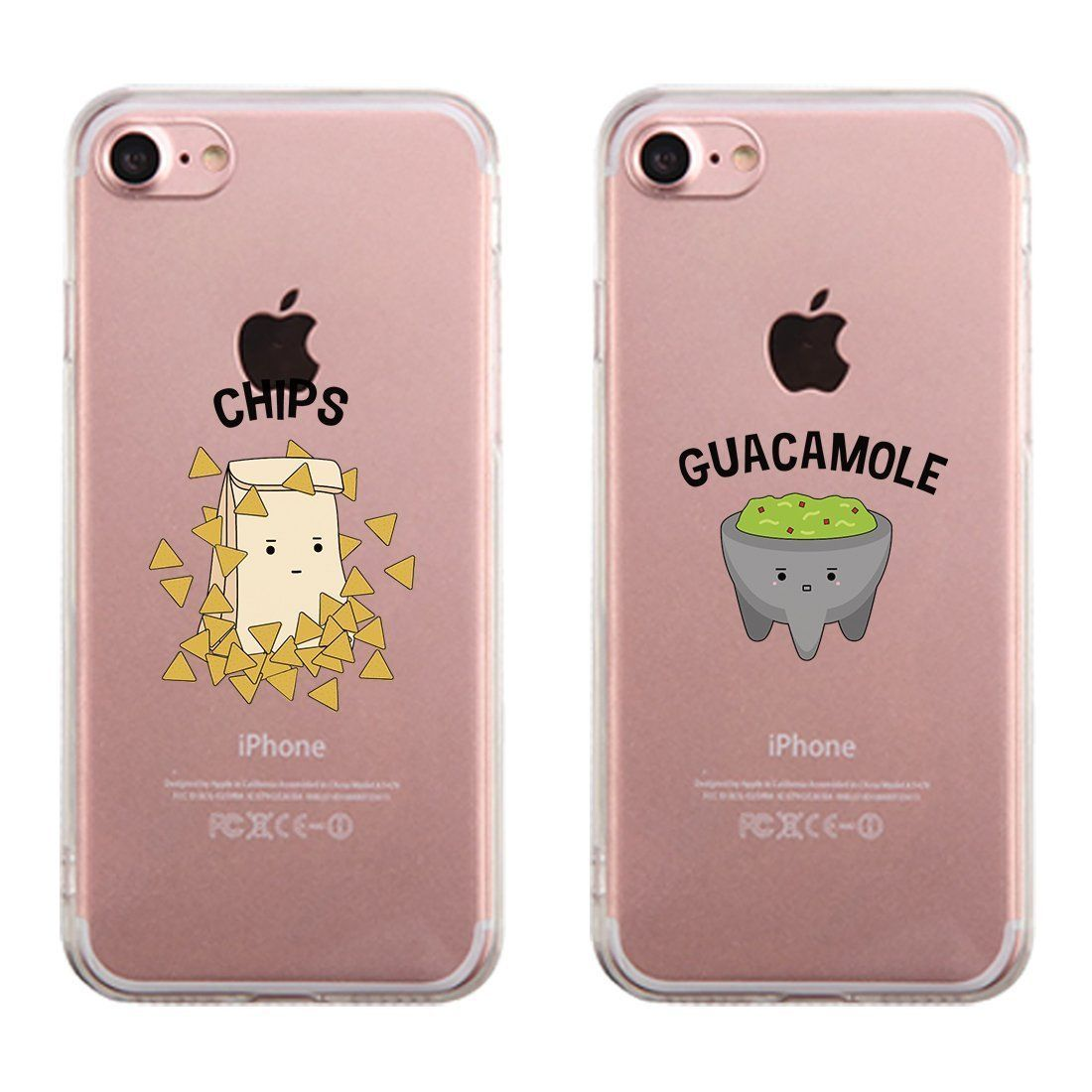 Chips & Guacamole Passende Handyhüllen Transparent Best Friend Gift – Bestie cas …   – Phonecases