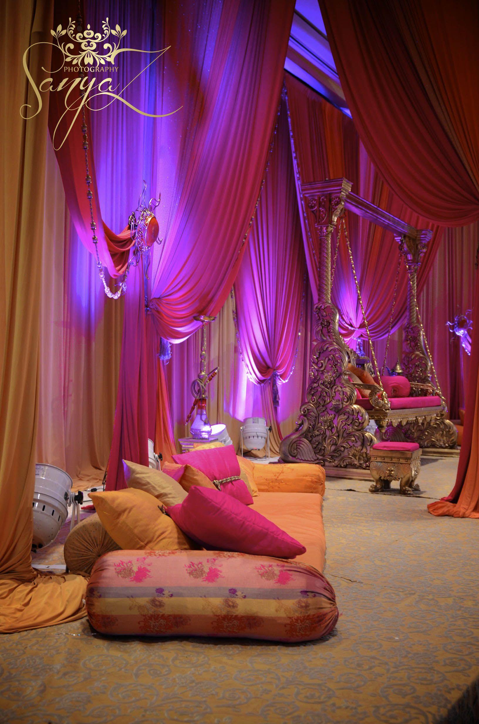 Asian Mehndi Party Ideas : Indian sangeet mehendi stage follow us on http