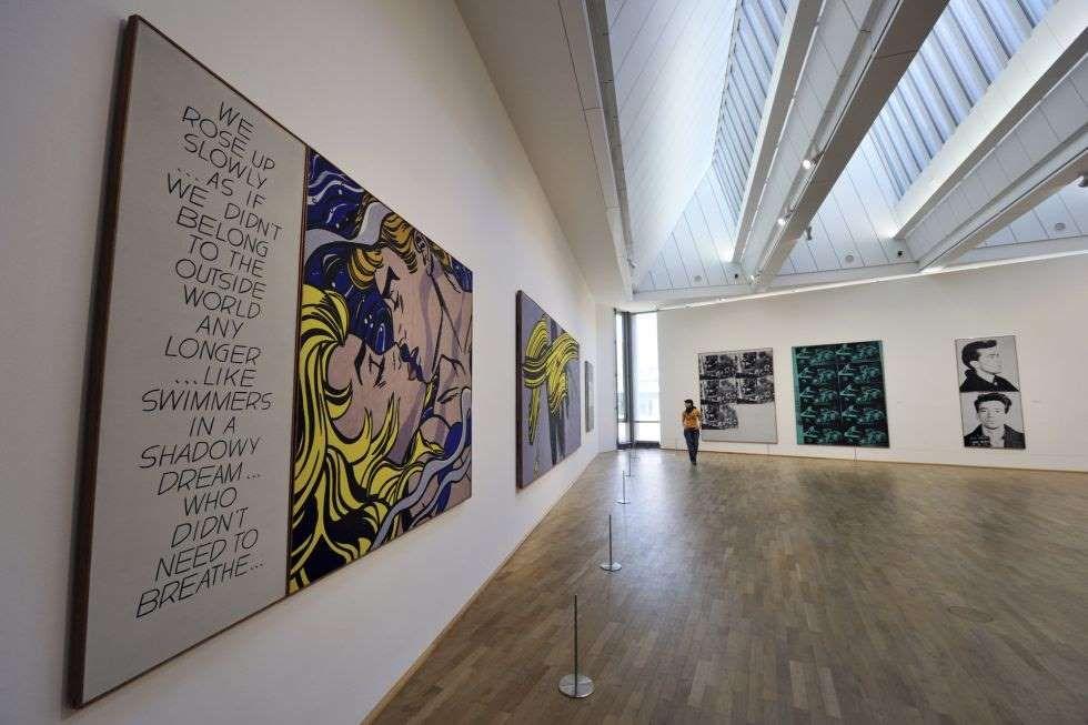Obras de Roy Lichtenstein en una de las salas del MMK, el Museo de Arte…