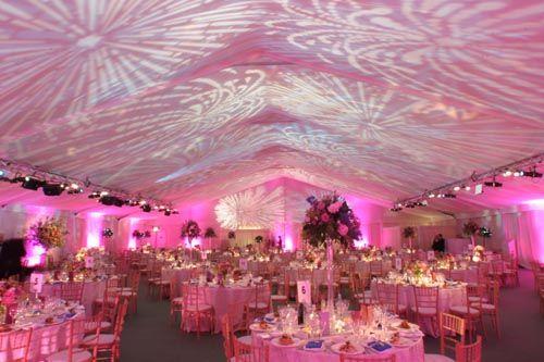 Special effect lighting for parties wedding lighting design