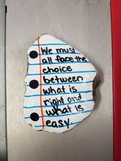 Note paper painted rock, Harry Potter quote. #raytownrocks Paint a rock, hide a rock, find a rock. - #harry #paint #painted #paper