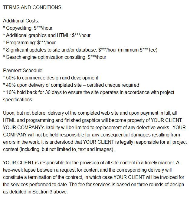 Good Web Design Contract Business Pinterest Web design contract - letter format for salary increment