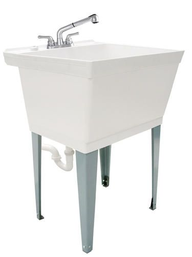 Tuscany Laundry Tub Kit With Pullout At Menards Laundry Tubs Tub And Shower Faucets Utility Sink