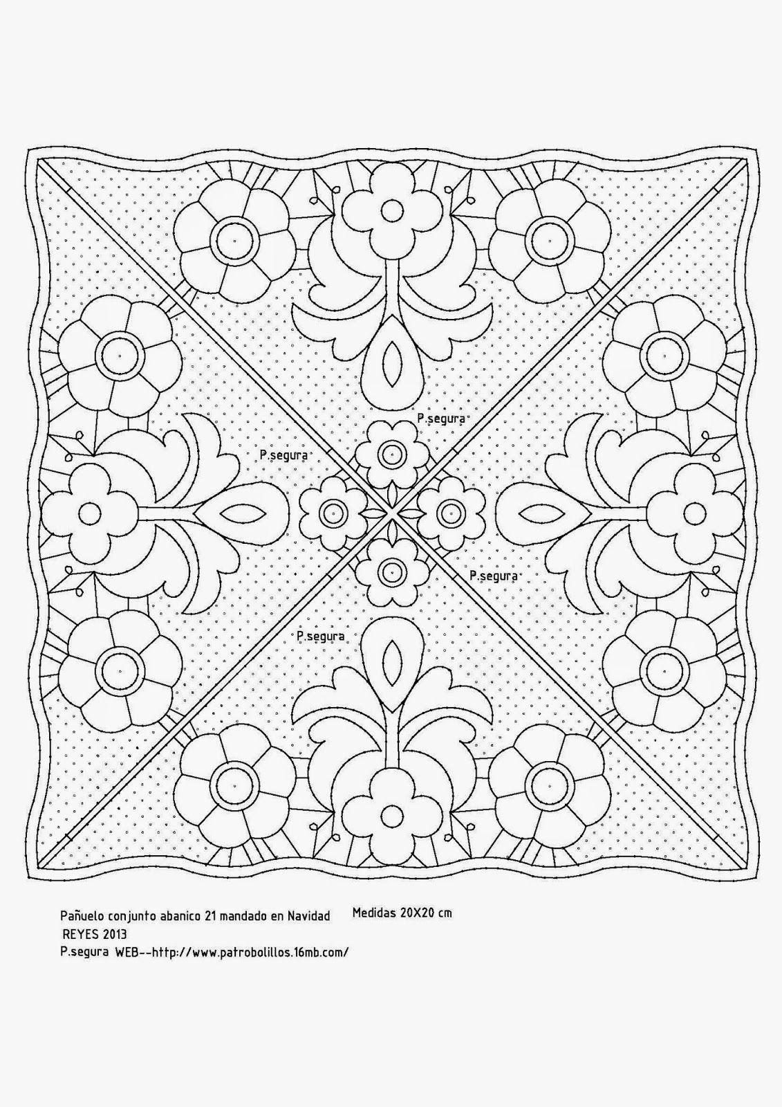 Abanico21Pa%C3%B1uelo.jpg (1131×1600) | pañuelos de bolillos ...