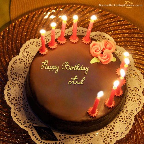 The name anil is generated on happy birthday images download or share with your friends or - Write name on cake ...