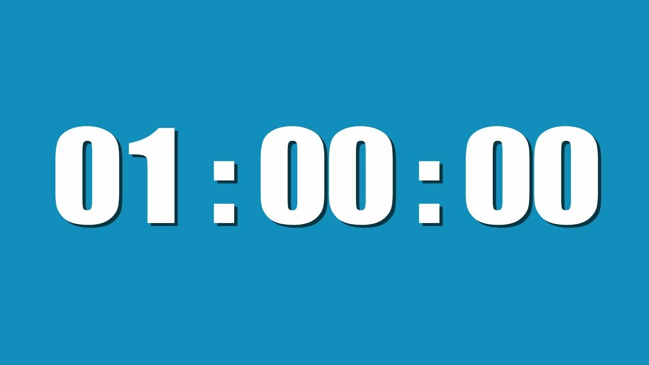 1 Hour Timer Timer Countdown Timer Hour