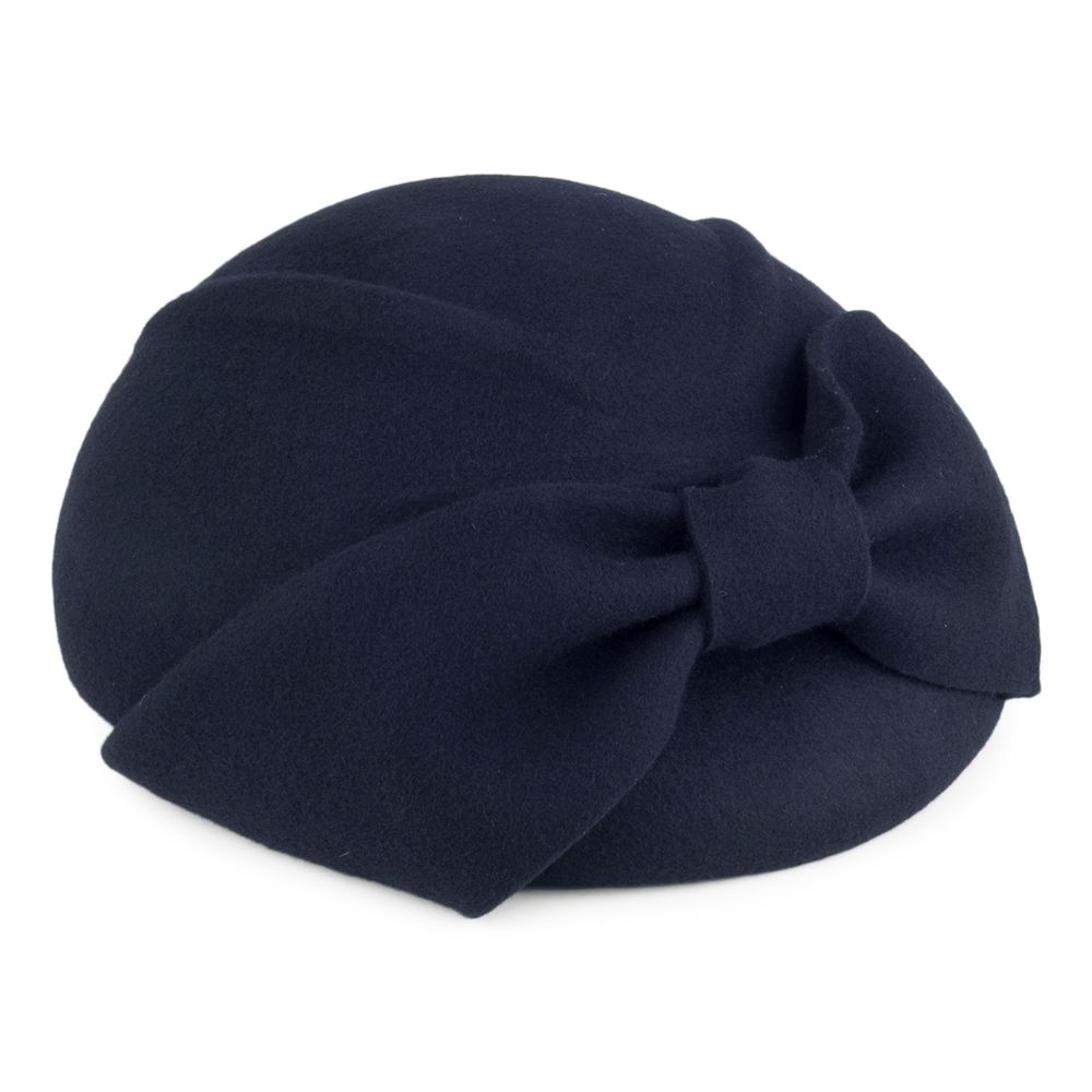 Black Failsworth Hats June Pillbox Hat