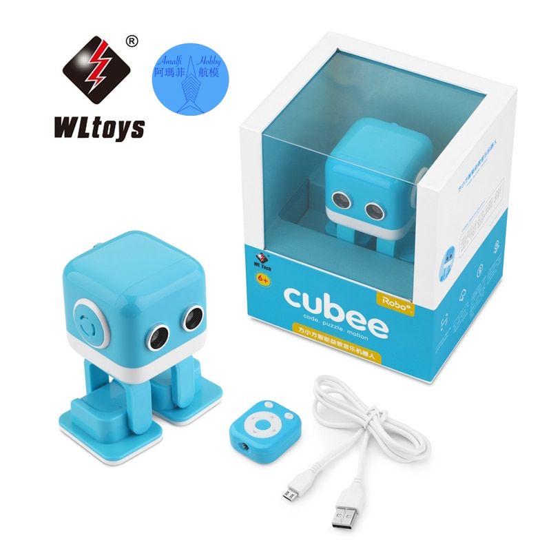 Wltoys Cubee F9 Yellow Blue Rc Robot Intelligent Programming App