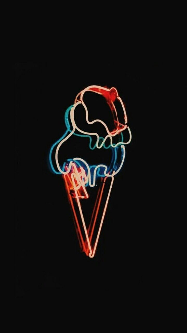 Ice Cream Neon Neon Wallpaper Wallpaper Iphone Neon Neon Light Wallpaper Aesthetic ice cream wallpaper tumblr