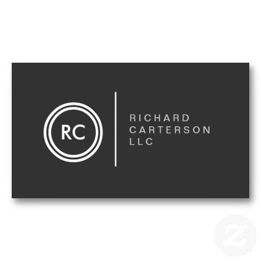 Initials monogram business card for attorneys authors and writers initials monogram business card for attorneys authors and writers reheart Image collections