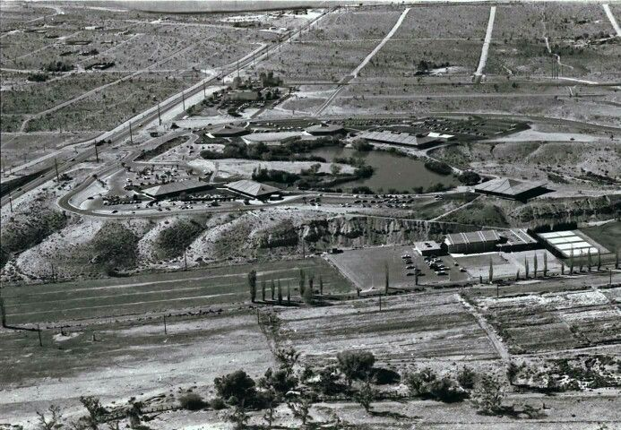 Aerial of Victor Valley Community College. Victorville 70s